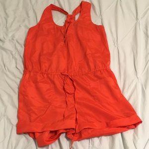 Urban Outfitters Orange Romper